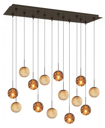 CH654AM655LT14BZL2 14 Light Ambra & Latte Multilight