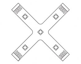 X Connector X-Connector for White LED Flexible Strip