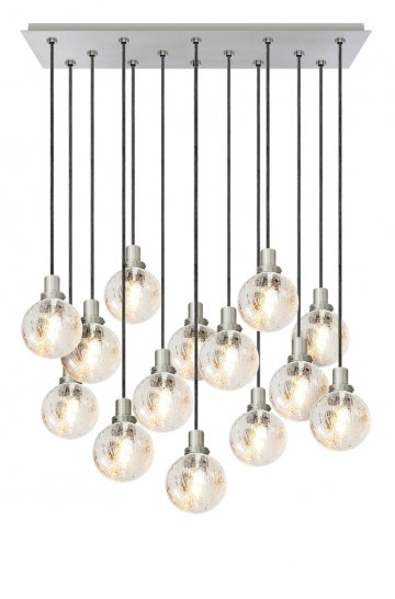 CH56014 14 Light Crackle Globe