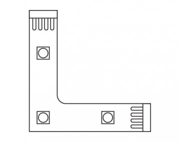 L Connector L-Connector for White LED Flexible Strip